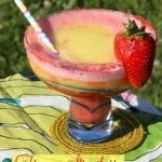 Celebrate with Frozen Strawberry Mango Margaritas