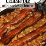 Baked Bean Casserole with Apples and Bacon