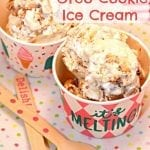 S'mores Oreo Cookie Ice Cream for National S'mores Day!
