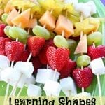 Play Date Learning Shapes Fruit Kabobs
