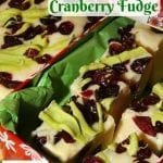 "Festive Crock-Pot White Chocolate Cranberry Fudge Inspired by ""A Christmas Story"""