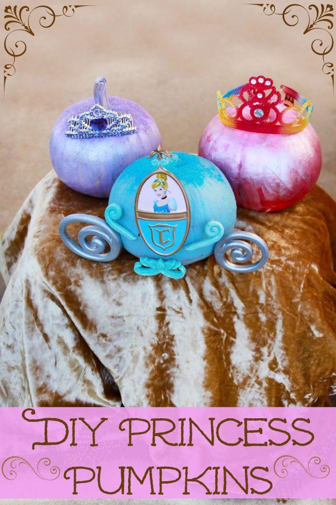Princess Decorated No Carve Pumpkins