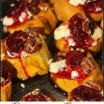 Gorgonzola and Cranberry Sweet Potato Rounds