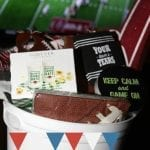 DIY Football Lovers Gift Basket