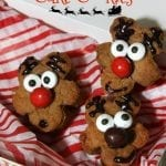 Gingerbread Reindeer Cake Cookies