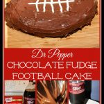 Dr Pepper Chocolate Fudge Football Cake
