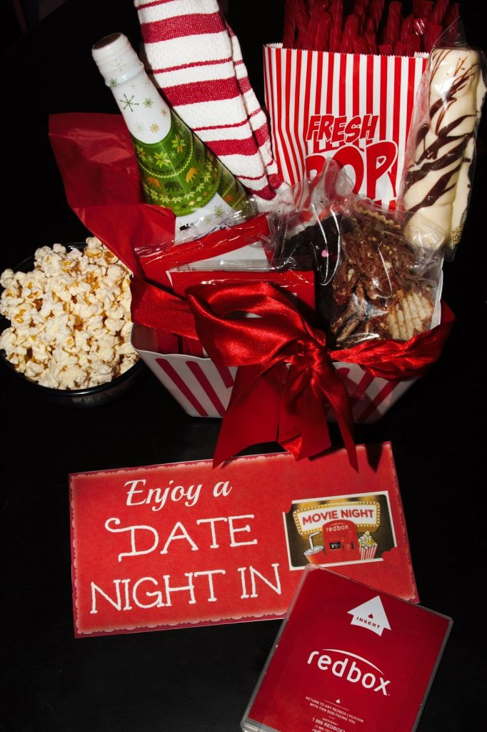 DIY Date Night In Gift Basket with Redbox - For the Love ...