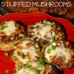 Cajun Red Beans and Andouille Sausage Stuffed Mushrooms
