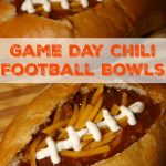 Game Day Chili Filled Football Bread Bowls and the Riunite Chili Cook-off