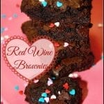 Red Wine Brownies for Good Cookie Food Bloggers Valentine's Event