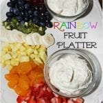 Rainbow Fruit Platter with Marshmallow Cloud Dip