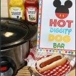 Crock-Pot Hot Dogs for a Crowd and Mickey Hot Diggity Dog Bar