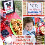 DIY Mickey Waffle Bar and Mickey Mouse Clubhouse Disney Kids Preschool Playdate Party