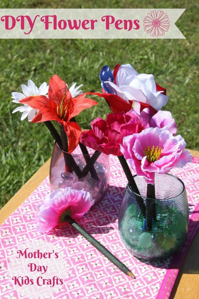 Diy Flower Pens And Painted Pots Mother S Day Kids Crafts