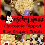 Mickey Mouse Chocolate Dipped Rice Krispies Treats