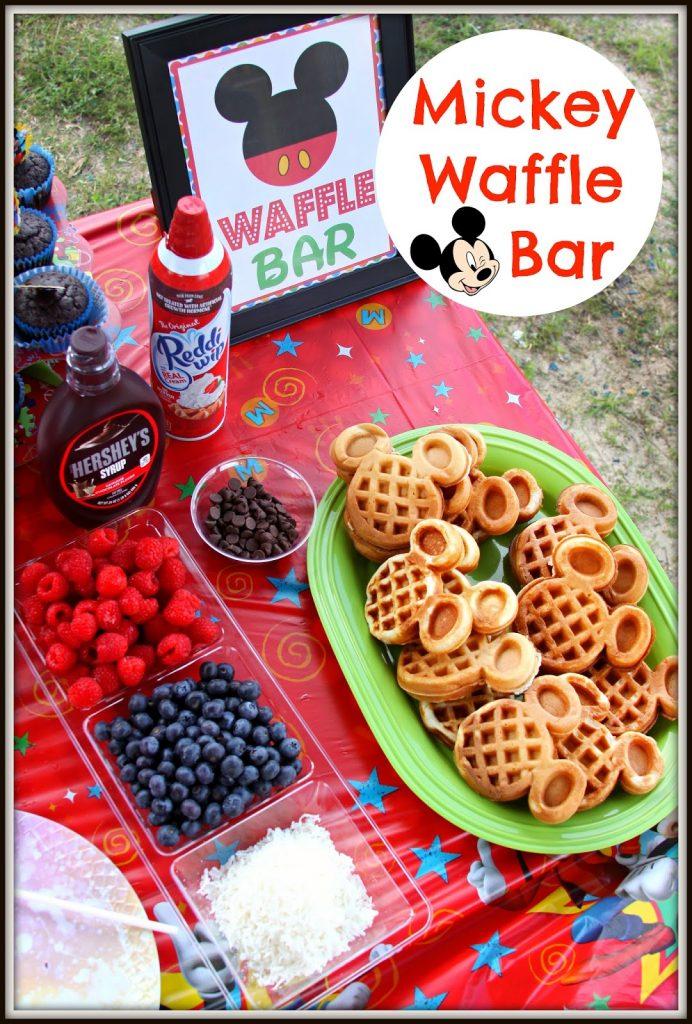 DIY Mickey Waffle Bar