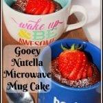Gooey Nutella Microwave Mug Cake #SummerDessertWeek