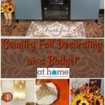 Country Fall Decorating on a Budget with At Home Stores