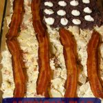 Patriotic American Flag Potato Salad