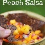 Farm Fresh Peach Salsa #MyTownProud