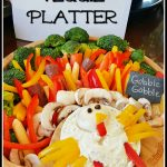 Gobble, Gobble Turkey Shaped Vegetable Platter