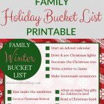 Christmas Family Fun | Printable Bucket List + Santa.com