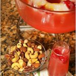 Pink Mimosa Punch With Fruit Filled Ice Ring