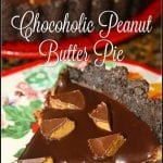 Chocoholic Peanut Butter Pie #FoodBloggerLove