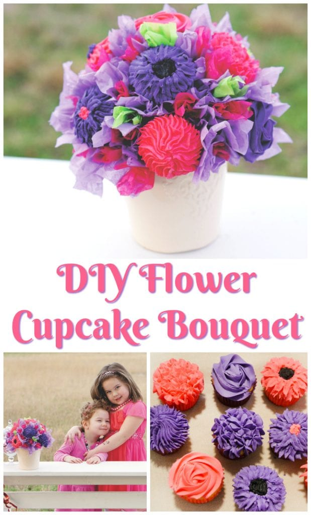 Diy Flower Cupcake Bouquet For The Love Of Food