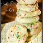 Funfetti Cake Mix Cookies for Teacher Appreciation