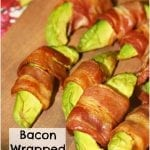 Bacon Wrapped Avocado Wedges