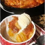 Skillet Peach Cobbler #CookoutWeek