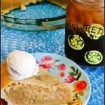 Texas Sweet Tea Pie #SummerDessertWeek