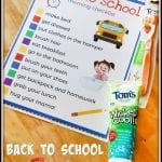 Printable Back-To-School Morning Checklist