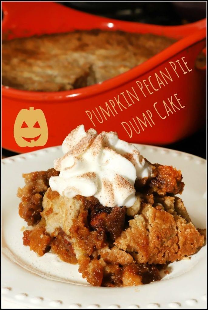 Pumpkin Pecan Pie Dump Cake