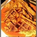 Pumpkin Bacon Waffles with Cinnamon Syrup #PumpkinWeek