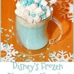 Disney's Frozen Blue Hot Chocolate #ChristmasSweetsWeek