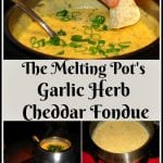 The Melting Pot Garlic Herb Cheddar Fondue