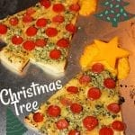 Christmas Tree Pesto Pizzas