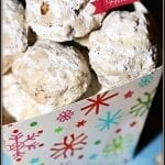 Holiday Pecan Snowball Cookies