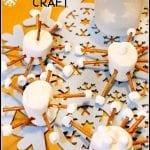 Marshmallow Snowflake Craft -Snow Day Fun!