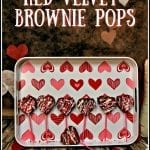Red Velvet Brownie Pops