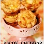 Bacon Cheddar Mini Quiche #BrunchWeek