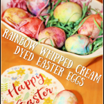Rainbow Whipped Cream Dyed Easter Eggs