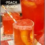 Sparkling Strawberry Peach Punch #Brunchweek