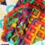 Tie Dye Rainbow Waffles