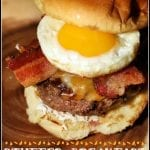 Stuffed Breakfast Burgers #BurgerMonth