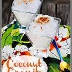 Coconut Granita  #SummerGrilling