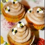 Busy Bee Brown Sugar and Honey Cupcakes #CupcakeLoversDay