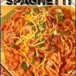Cowboy Pork Spaghetti